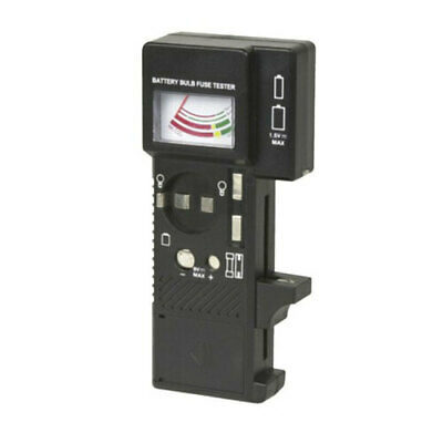 New High Quality Affordable No-Fuss Tester Battery/Bulb/Fuse Anolgue Black
