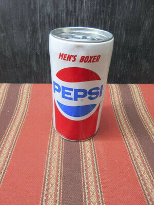 PEPSI COIN BANK CAN from 2007 - contained Men's Boxer shorts at one time