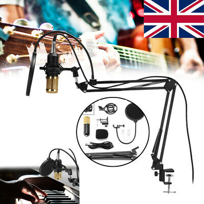 BM800 Condenser Microphone Professional Studio Vocal Recording Mic Stand Kit
