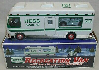 """Hess 1998 """"Recreation Van with Dune Buggy and Motorcycle"""" In Original Box"""
