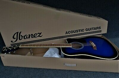 Ibanez PF15ECE-TBS ACOUSTIC ELECTRIC GUITAR SPRUCE TOP BLUE SUNBURST dreadnought