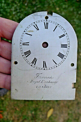 Antique English Bracket/Carriage brass clock Dial French, Royal Exchange LONDON