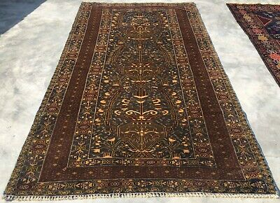 Authentic Hand Knotted Vintage Afghan Zakani Balouch Wool Area Rug 6 x 4 Ft