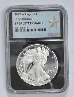 2019-W Proof American Silver Eagle - NGC PF69 ER *704