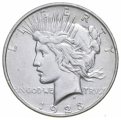 Early - 1923-D - Peace Silver Dollar - 90% US Coin *484