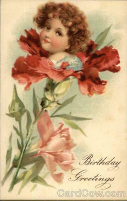 Birthday Greetings Douglass Post Card Co. Antique Postcard Vintage
