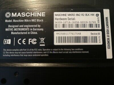 Native Instruments Maschine Mikro Mk2 including USBC cable. Pre-owned.