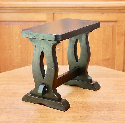 Arts and crafts style traditional wooden pegged stool