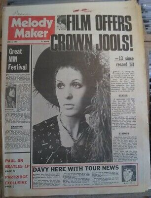 Melody Maker June 8th 68 Julie Driscoll Beatles Rolling Stones Small Faces