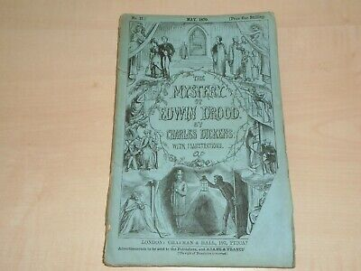 May 1870 Original The Mystery Of Edwin Drood Magazine No 2 By Charles Dickens