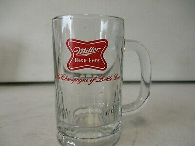 Miller High Life The Champagne of Bottle Beer Glass Beer Mug