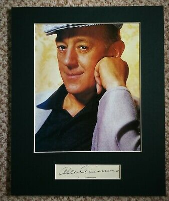 Sir Alec Guinness, vintage signed display, lovely piece
