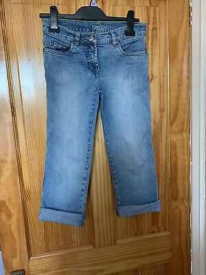 Retro Newlook 915 Cropped Jeans Stretch Age 11-12(152cms