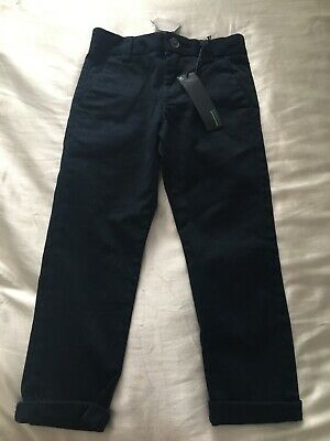 Next 3 Years Boys Skinny Fit Navy Trousers Bnwt