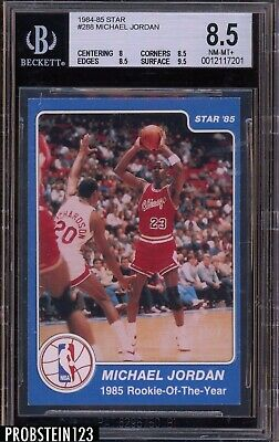 1984-85 Star Basketball #288 Michael Jordan RC Rookie Bulls HOF BGS 8.5
