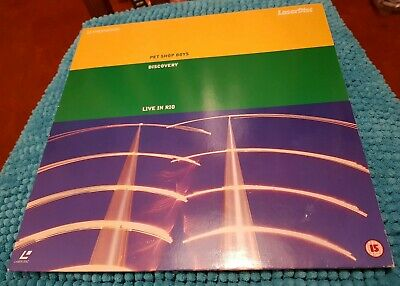 Pet Shop Boys - Discovery Live in Rio - LASERDISC PAL LD (no DVD bluray) musical