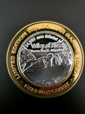 Barbary Coast Silver Strike Casino Valley Of Fire Limited Edition $10 Gaming Tok