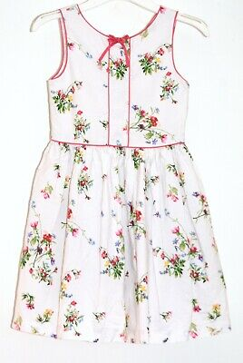 Pretty NEXT 100% Cotton Summer Dress Girls aged 10 years Floral Sleeveless lined