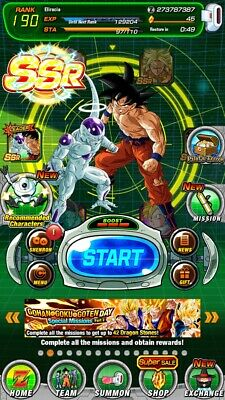 Dokkan Battle Gobal Account IOS/ANDROID 11 LRS (UI GOKU), TONS OF SSR, NO STONES