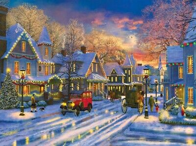 Jigsaw puzzle Winterscape Winter Sunset 1000 piece NEW Made in USA