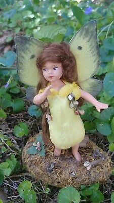 Fairy Figure Handmade One Of A Kind Artist Doll Tulip Spring Garden in Yellow