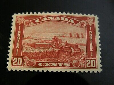 Canada - #175  20 Cent Harvesting Mint Hinged Vf  $70.00 Cv, Nice