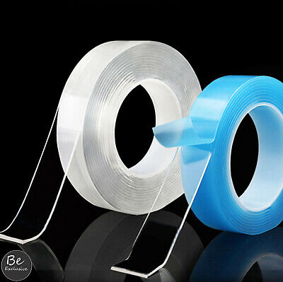 Transparent Magic Nano Tape Glue Reusable Washable Double-Sided Adhesive