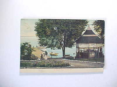 1910 Culver Indiana At Depot Pier With Sodas And Ice Cream At The Gazebo Vg