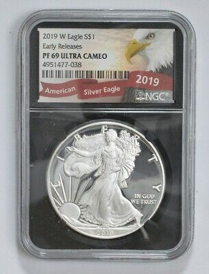 2019-W Proof American Silver Eagle - NGC PF69 ER *725
