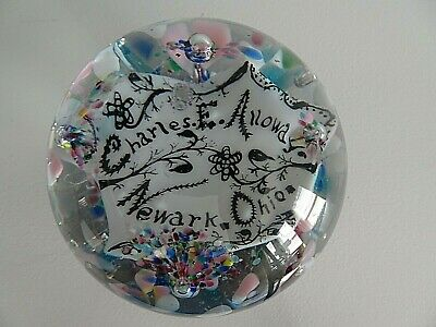 MAGNUM Antique MILLVILLE Glass Name PLAQUE PAPERWEIGHT South New Jersey