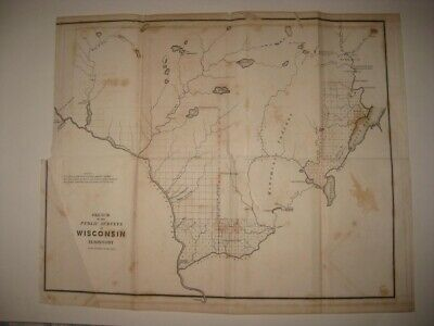 Antique 1850 Wisconsin Territory Prairie Du Chien Native Indian Unfinished Areas