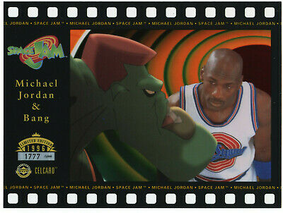 #/5000 MICHAEL JORDAN & BANG MONSTAR Upper Deck Celcard Space Jam Limited