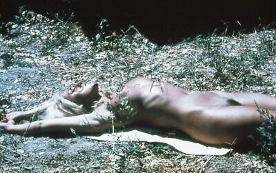 Org Vintage Art Nude 1950s-60s 35mm Slide / Negative- Outdoors- Endowed Blond