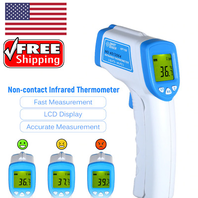 Non-contact Infrared Forehead Thermometer Digital Baby Adult Temperature Gun FDA