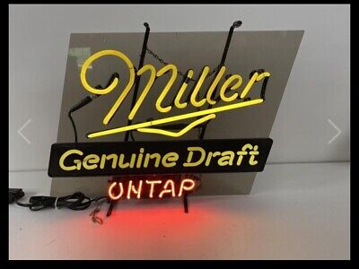 Vintage Miller Genuine Draft On Tap Neon Sign, Hard To Find, Works Great!