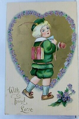 Greetings With Fond Love Postcard Old Vintage Card View Standard Souvenir Postal