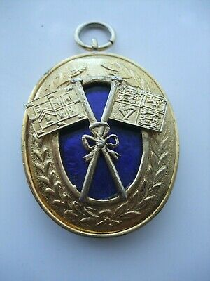 GOOD VINTAGE 1970 MASONIC P.G.Std Br.COLLAR JEWEL. MANCHESTER LODGE No.179.
