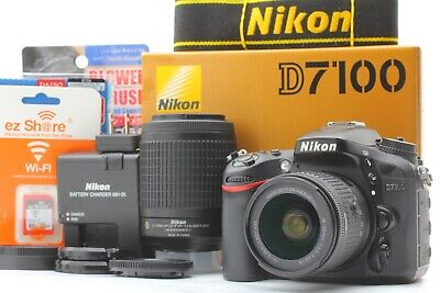 【N.Mint in Box SET】Nikon D7100 DSLR 24.1MP 22496 Shutter Count + 2 lens JPN #124