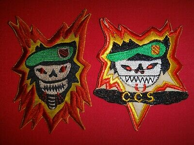 2 Vietnam War US 5th Special Forces Group Patches: MACV-SOG + CCS