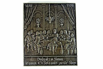 Old Massive Wall Picture Tin Iron Wedding To Cana buderus 17031 Very Decorative