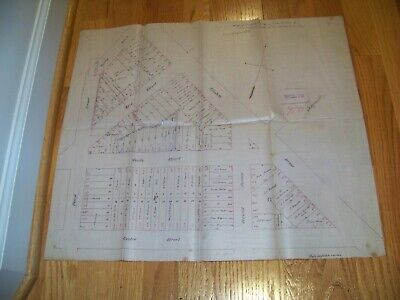 1869 Map Elizabeth NJ Estate of J. W. Angus James Vosseller John G. Sauerwein