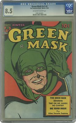 Green Mask Vol. 2 #4 CGC 8.5 1945 0781264001