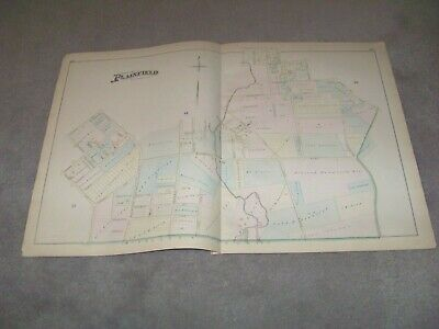 1882 Map Part of Plainfield 3 NJ J E Robinson & R H Pidgeon A H Mueller