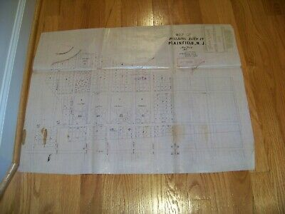 1853 Map Plainfield NJ Stillman Rogers Vosseller Sauerwein Cedar Brook
