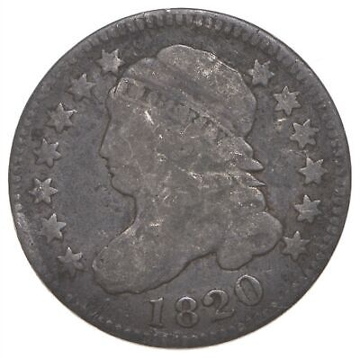 EARLY - 1820 - Capped Bust Dime - Eagle Reverse - TOUGH - US Type Coin *286