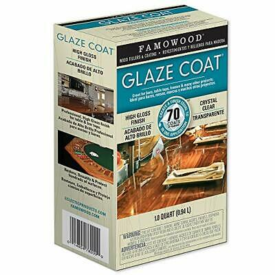 FamoWood 5050080 Glaze Coat Epoxy Kit - 1 Quart Clear