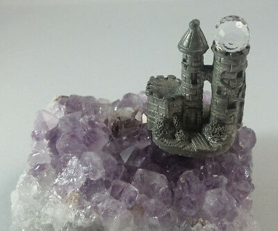 Castle on Amethyst with Chrystal Ball Pewter