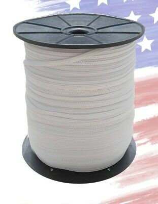 """Elastic Band 1/8"""" inches width (3mm) White 200 Yards Rolls SALE - USA SELLER"""