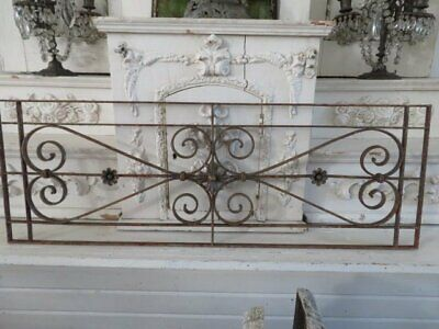 AWESOME Old Architectural Cast Iron METAL GARDEN Fence Decor Piece Ornate Rusty