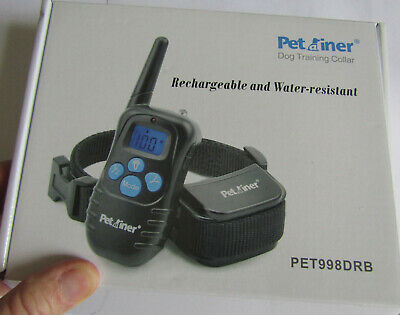 Electronic Petrainer Remote Dog Training Collar # PET998DRB, w/ instructions &